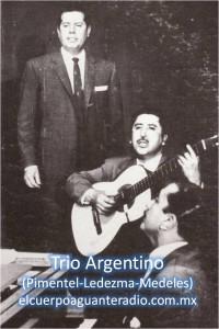 trio argentino (pimentel-ledezma-medeles)-sello