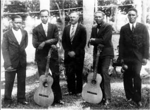 Trio Borinquen Antonio Mesa, Salvador Ithier (tio de Rafael Ithier), Rafael Hernandez en Puerto Rico