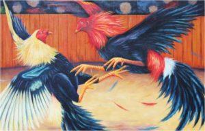 06 pelea de gallos pintura
