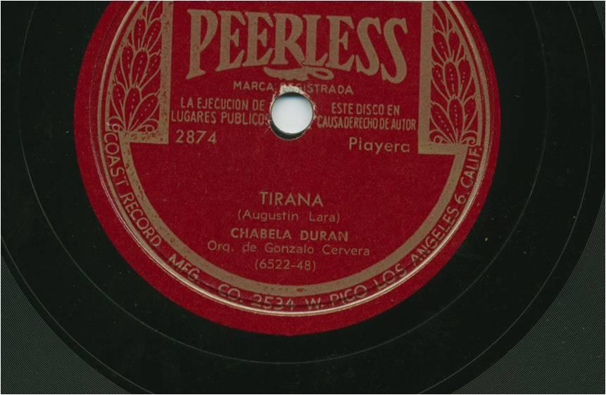 Tirana: garbanzo de a libra en voz de Chabela Durán