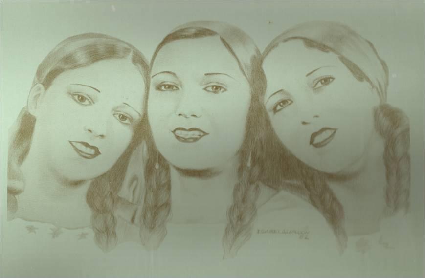 Trío Ascencio del Río, conformado por Emilia del Río y las hermanas Sara y Ofelia Ascencio